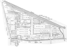 1967(昭和42)年の蕨工場配置図