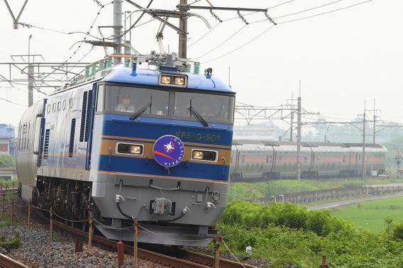 EF510-500初登板となった『カシオペア』 栗橋~東鷲宮