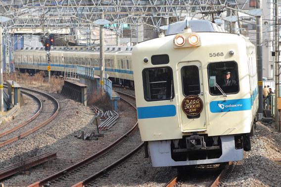 ヘッドマークをつけて走る『5000形10両さよなら運行』列車 向ヶ丘遊園~生田