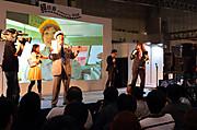 「ニコニコ超会議」の「超鉄道ブース」の様子