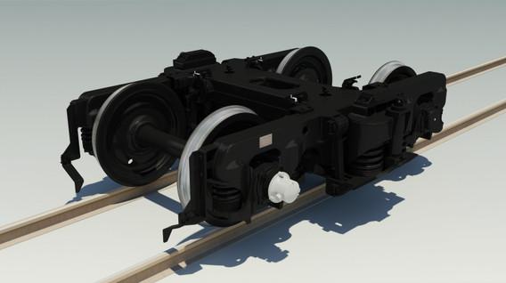 完成したTR201台車3DCG