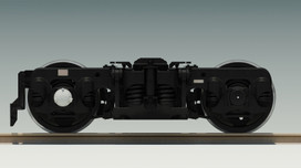 完成したTR201台車3DCG 横