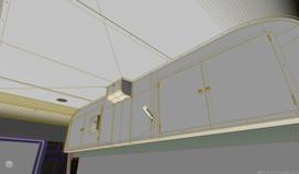 103系 乗務員室天井板CG